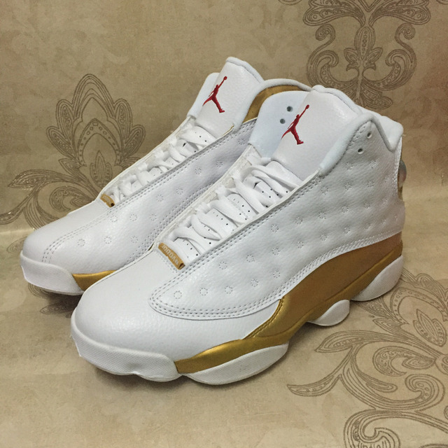 5965885b7ef6 JORDAN 13 Basketball Shoes AJ13 Low Help JORDAN Sneakers Men White Gold Basketball  Shoes Jordan 13 Size 40-47