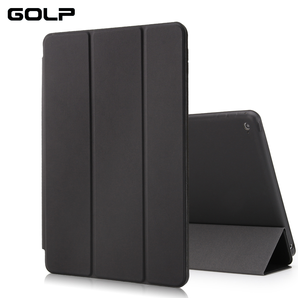 for ipad air 2 case, GOLP PU Leather for ipad air 2 cover, Smart cover for iPad 6, Flip case and back cover for apple ipad air2 2016 new womens golf tshirts branded high quality dobby long sleeve breathable s 2xl 4 colors golf sport clothing free shipping