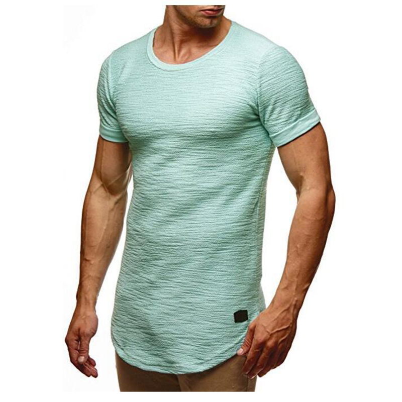 2018 Trendy Sommer Männer T-shirt Casual Schlank Kurzarm grund Tops Tees O Neck Solid Color Tops Fitness Casual T Shirts