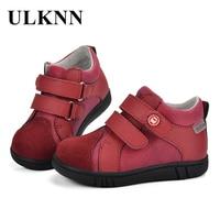 ילדי בני ילדים הנעלה ULKNN TPR נוח לנשימה נעליים מזדמנים עקבים שטוחים עור אמיתי מעצב בייבי ילדים