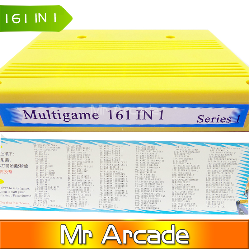 free shipping 161in1 SNK neo geo mvs 161 in 1 JAMMA multi game Cartridge pcb-game board for game machine twister family board game that ties you up in knots