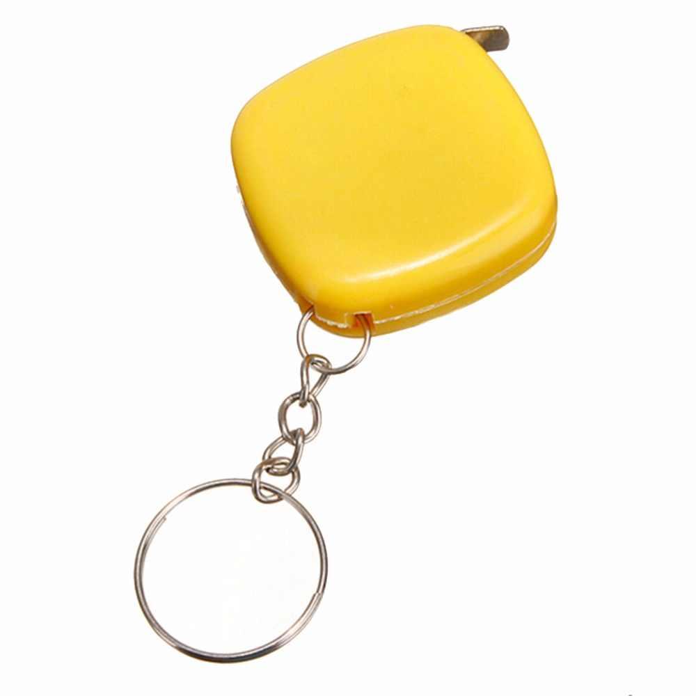 1 יחידות מיני מדידת קלטת Keychain פופולרי חדש חמוד 1 מטר צבע אקראי Keyring כלי נייד Keychain סיטונאי