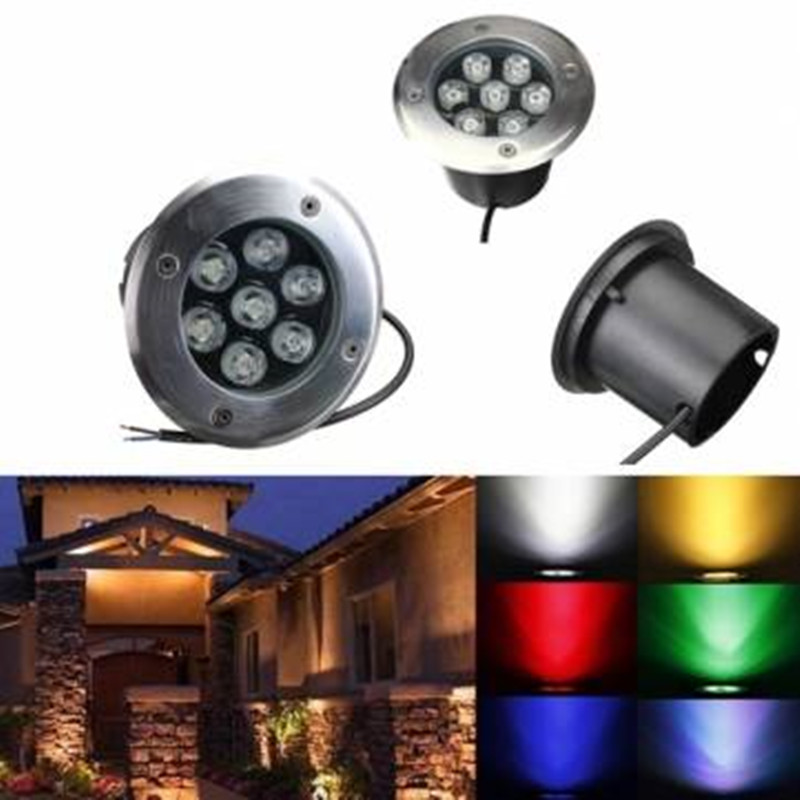 Waterproof LED Underground Light 7W Buried Recessed Floor Inground Yard Path Landscape Lighting Lamp for Outdoor Decoration