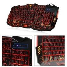 Компьютерные периферийные устройства Регулируемый цвет светящаяся Подсветка мультимедийная игровая клавиатура и мышь набор провода для профессиональных игр