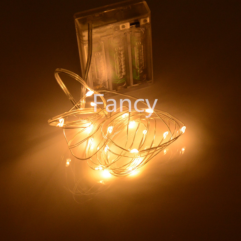 Aliexpress.com : Buy 9 Colors Battery powered 2M 7FT 20 LED Silver led String Light Waterproof ...