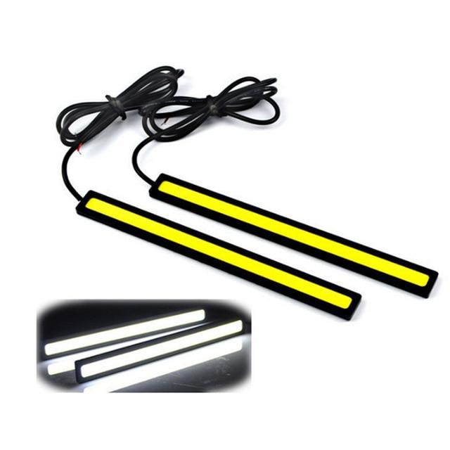 1 PCS 17 cm 12 V COB LED DRL Driving Luzes Diurnas Tira COB LEVOU DRL Bar Listras Painel Lâmpadas Auto de Condução durante o Dia luzes