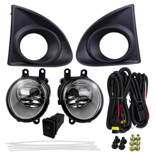 Car Accessories Headlight Decoration For Toyota AXIO 2013 With Harness Switch Fog Light Assembly 4300K 12V 55W Halogen Lamp 12v car fog light assembly for toyota fortuner hilux sw4 2016 front left and right set fog light lamp with harness relay