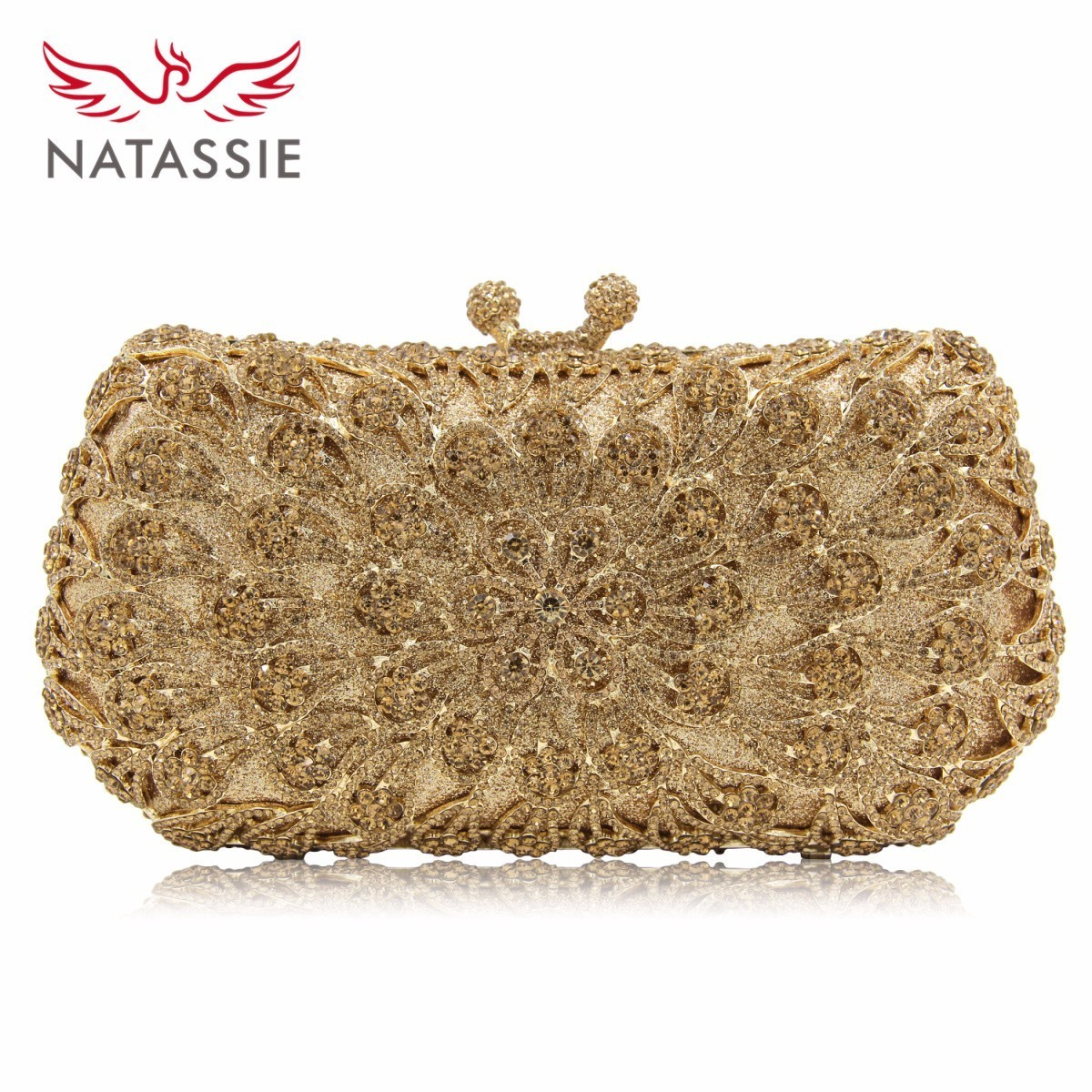 Natassie New Arrival Ladies Flower Carystal Wedding Bridal Purse High Quality Women Evening Bag Day Clutches Girls Party Bag british men ankle boots spring autumn pointed toe soft genuine leather botas hombre cowboy military booties wedding dress shoes