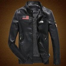 2016 herbst neue abzeichen männliche militärische lederbekleidung stehen kragen PU motorradbekleidung lederjacke dünne dünne oberbekleidung männer