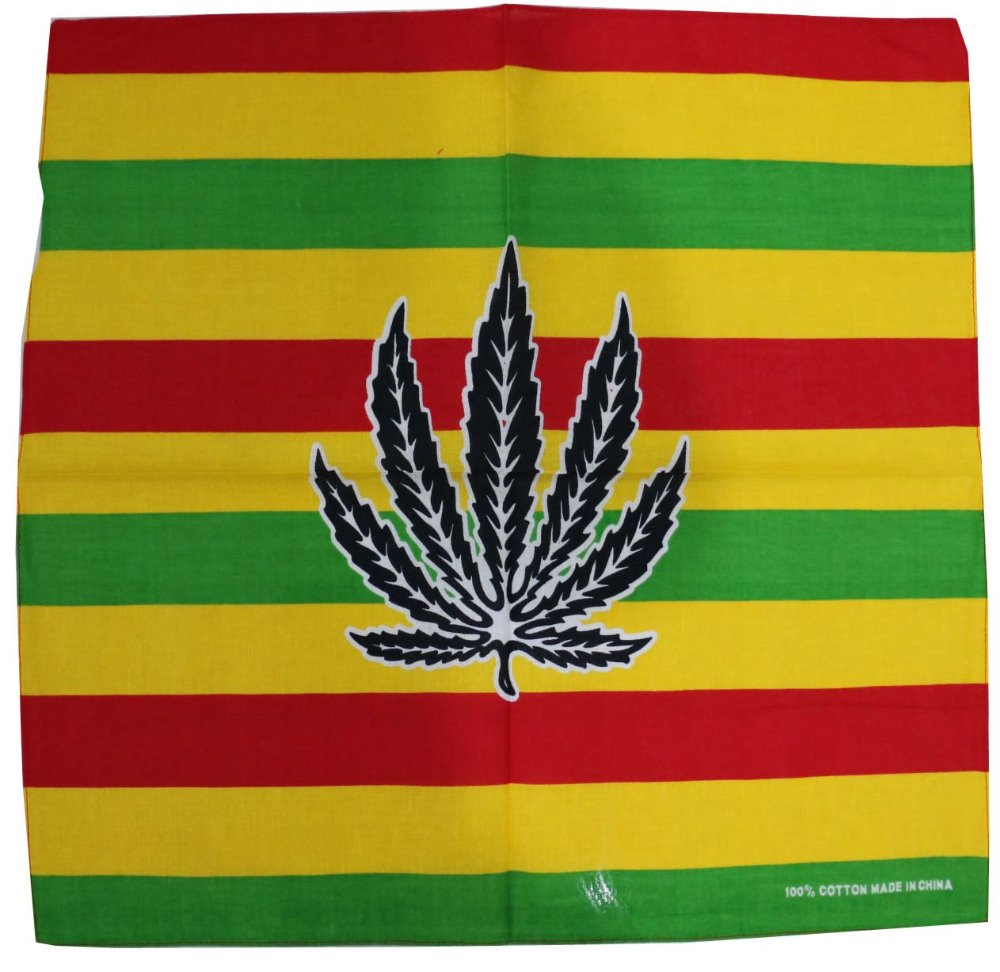 Free Shipping 2018 Male Hip Hop Weed Striped Bandana For Mens
