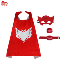 SPECIAL L 27* P J cape mask bracelets child cartoon themed party cos-play dress up boy party toys costume birthday gift