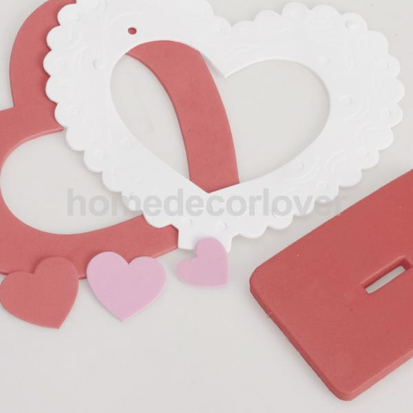 6pcs Romantic LOVE HEART Eva Foam Photo Frame Craft Kit SO CUTE-in ...