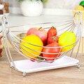 Творческий дом из нержавеющей стали фрукты тарелка журнальный столик для гостиной сливной корзина для фруктов с поддоном для воды ZP12181347