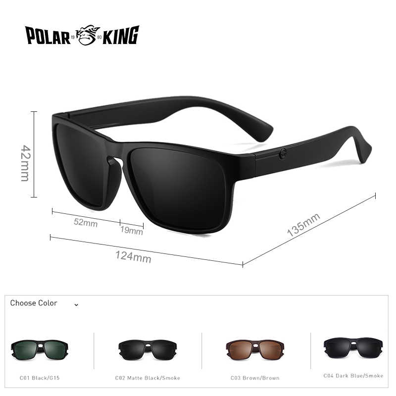 72873764f8 ... POLARKING Brand Polarized Sunglasses For Men Plastic Oculos de sol Men s  Fashion Square Driving Eyewear Travel ...
