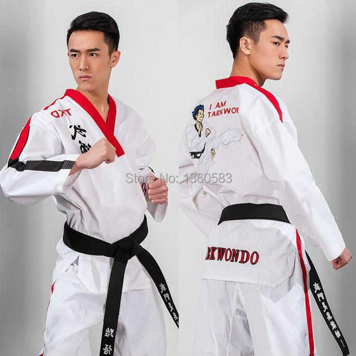Высокое качество взрослых тхэквондо добок коттен бамбукового волокна серии ITF среди мужчин и женщин по тхэквондо ТКД одежда с рисунком одежда форменная, униформа
