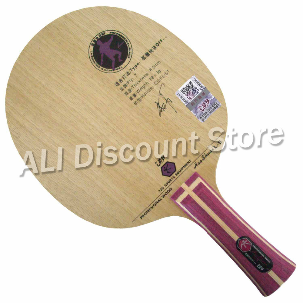 RITC 729 Friendship HAOSHUAI L-5 L5 L 5 Professional Wood OFF++ Table Tennis Blade For PingPong Racket