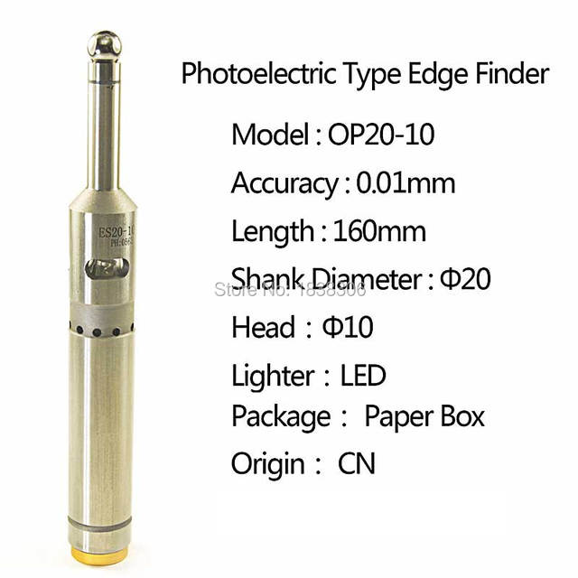 1 pcs Electronic Edge Finder for CNC Machine Photoelectric type New Precision Electronic Digital  With LED and Sound Tools