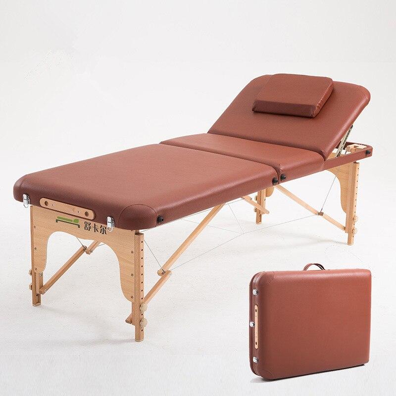 70 cm ancho 3 plegable mesa de masaje portátil marco de madera ...