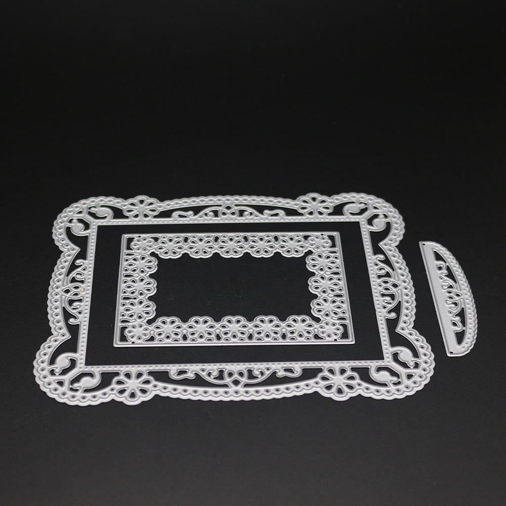 Square Lace Frame Cutting Dies Scrapbooking Paper Card Embossing ...