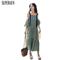 Superaen韓国スタイルファッション夏ドレス女