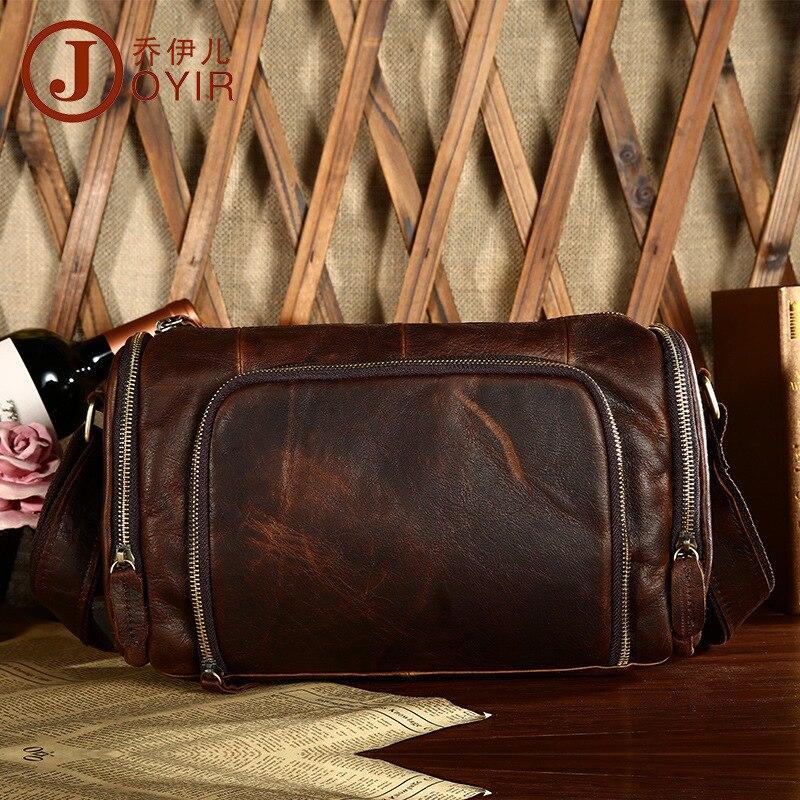 Топ Ковбой 100% модная Натуральная кожа Мужская сумка мессенджер винтажный дизайн подушки сумки мужские горизонтальные повседневные дорожные сумки через плечо - 2