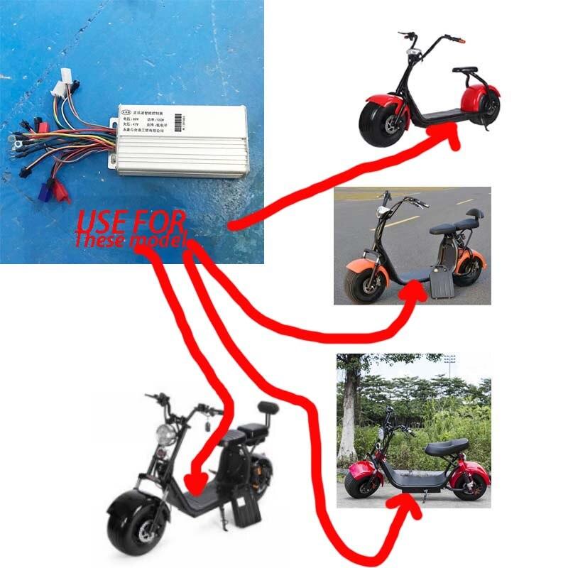 Gros pneu harley électrique scooter citycoco contrôleur 1000 W 60 V carte mère