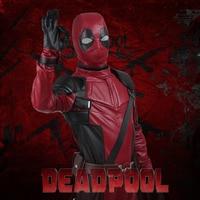 Deadpool X men Cosplay Wade Wilson Costume Outfit Superhero Jumpsuit Onesie Halloween Party Carnival For Men Custom Made Adult