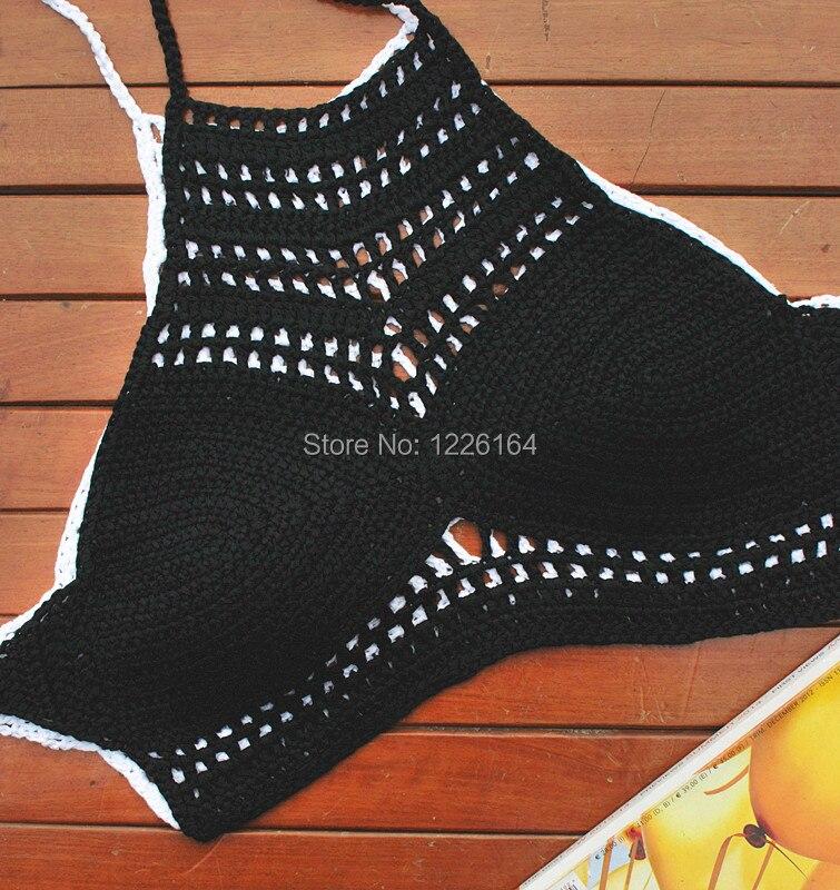Crochet Halter Summer Crop Top Cizme de mână, croșetate, din - Imbracaminte sport si accesorii - Fotografie 3
