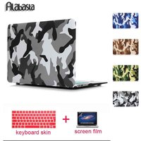 For New MacBook Pro 13 15 Case 2016 Camo Camouflage Rubberized Matte Hard Alabasta Cover For