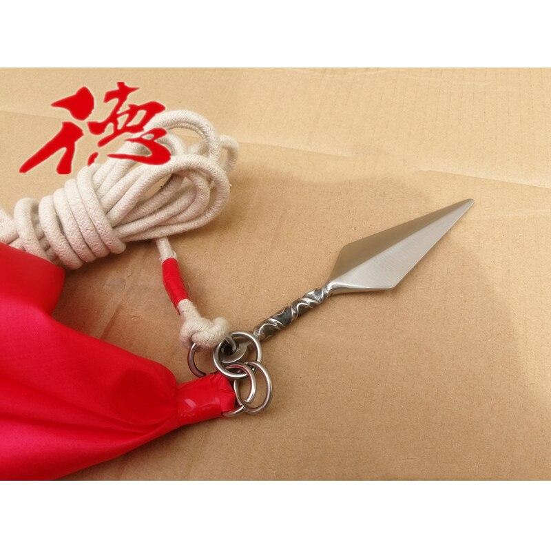 Arts Martiaux Corde Fléchette Shaolin Arme Douce Météore Fléchette Kung Fu Fléchettes Avec Corde, Bruant
