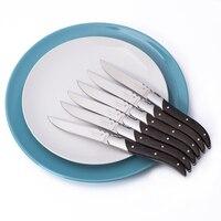 6Pcs/Set Stainless Steel Dinner Fork Salad Dessert Fruit Forks Flatware Cutlery Set Wooden Handle Table Steak Knives Fork set