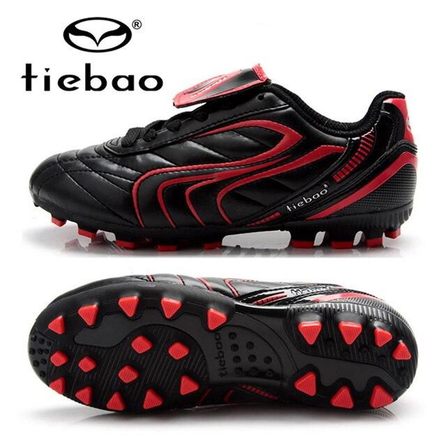 aad3f381d4 Tiebao sapatos das meninas dos meninos de futebol profissional do esporte  ao ar livre botas crianças