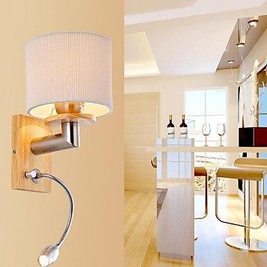 Oak современные светодиодные лампы на стенах светильники чтения Спальня дома Освещение деревянный настенный светильник бра 220 В