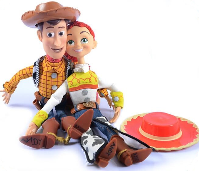 NEW hot 38cm Toy Story 4 Woody Jessie Can make a sound