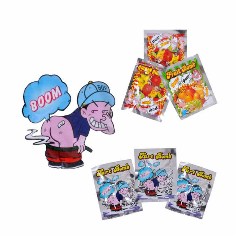10pcs Funny Fart Bomb Bags Stink Bomb Smelly Funny Gags Practical Jokes Fool Novelty Toy
