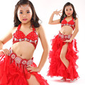 Children child Bellydance oriental Belly Indian gypsy dance dancing costumes clothes bra belt scarf ring skirt dress set suit 02
