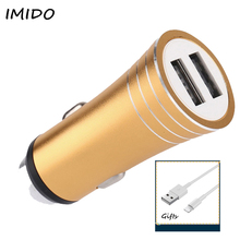 Quick Charge 2.0 5V 2A Universal Usb Car Charger For Mobile Phone MINI 2 USB Ports Travel Car Chargers For Samsung Huawei Xiaomi 2 usb quick charge 2a черное