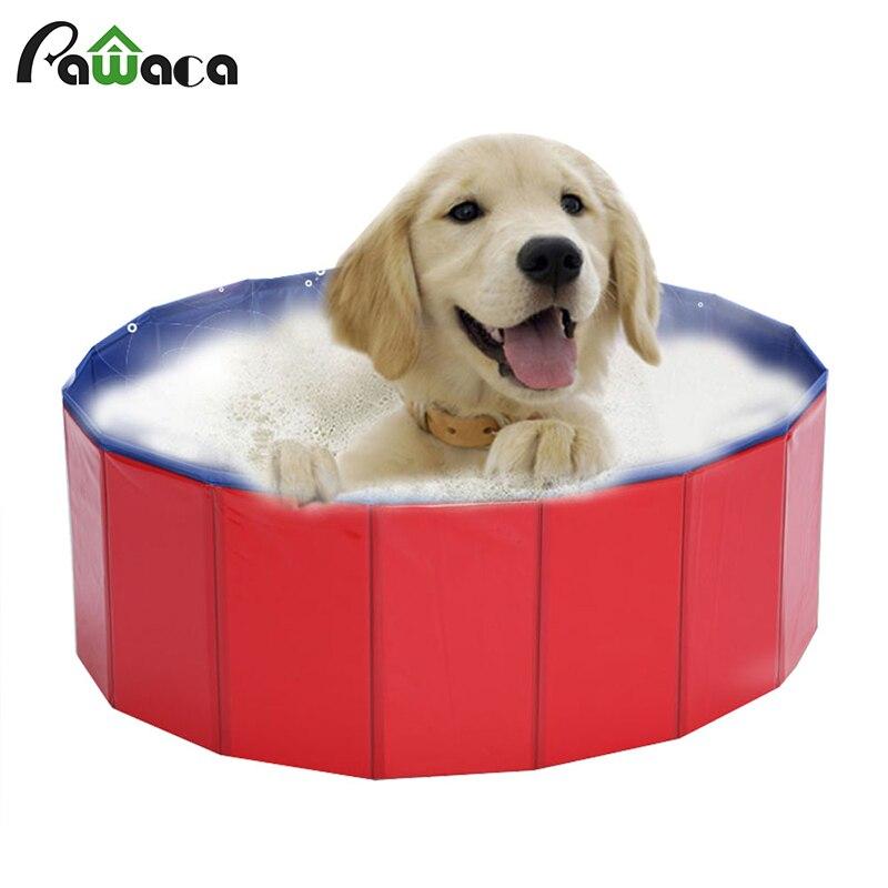 Pawaca produits pour animaux de compagnie pliant Pet chien chat piscine PVC baignoire été Portable propre pour chien chat Teddy