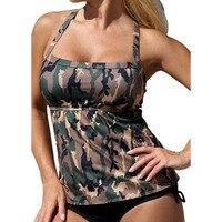 7bc02f29013 Women S Army Green Camouflage Backless Sling Triangle Brazilian Bikinis Set  Swimsuit Swimwear Summer Beach Bathing