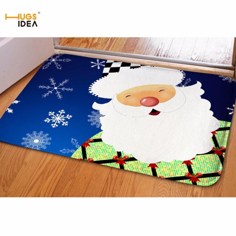 Hugsidea Merry Christmas Floor Welcome Front Door Carpet