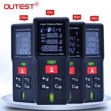 OUTEST 40 м 60 м 80 м 100 м лазерный дальномер цифровой лазерный дальномер лента дальномер линейка измерительный инструмент