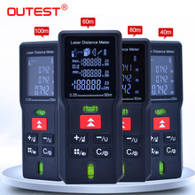 OUTEST 40M 60m 80m 100m Laser Rangefinder Digital Laser Distance Meter Laser Range Finder Tape Distance Measurer Ruler Test Tool laser distance meter 80m 100m rangefinder trena laser tape range finder build measure device ruler test tool