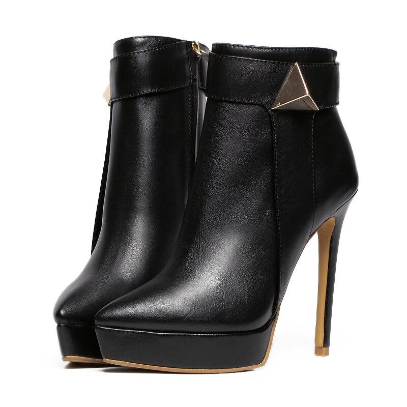 Chaussures Minces Femmes Automne 41 Plush Hiver linling Plate Pigskin 2019 De 34 Linling Bottines Habillées Cuir Talons Dames forme Martin Mode Véritable Bottes NOvnw0m8