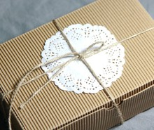 FJH010 10pcs/lot New style  DIY Gift Small Kraft Paper Boxes Party Wedding Bomboniere Favor Macaron Candy