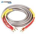 CHOSEAL HIFI динамик аудио кабель провод с банановой вилкой аудио линия 2 5 м