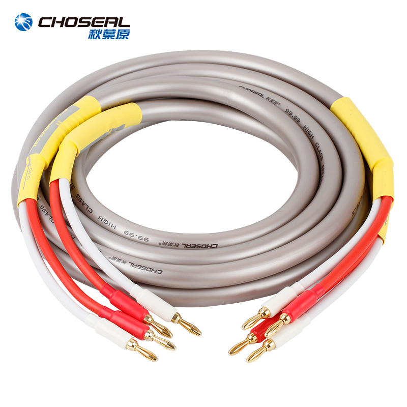 CHOSEAL HIFI Speaker Audio Cable Wire with Banana Plug Audio Line 2.5MCHOSEAL HIFI Speaker Audio Cable Wire with Banana Plug Audio Line 2.5M