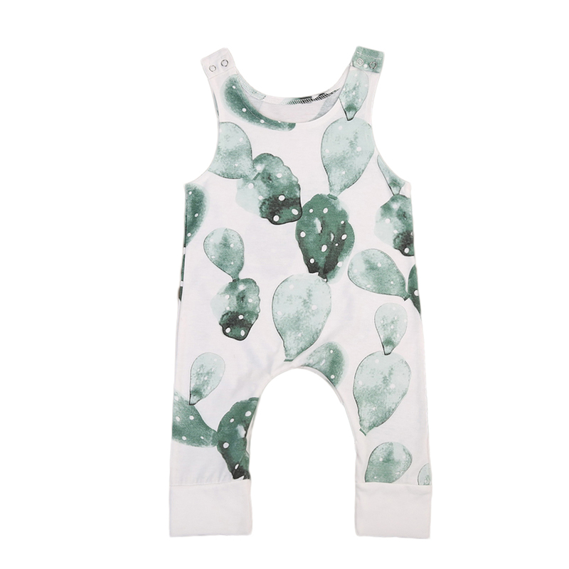 New Fashion Lovely Infant Baby Girl Boy Cactus One-piece Sleeveless Cotton   Romper   Jumpsuit Playsuit