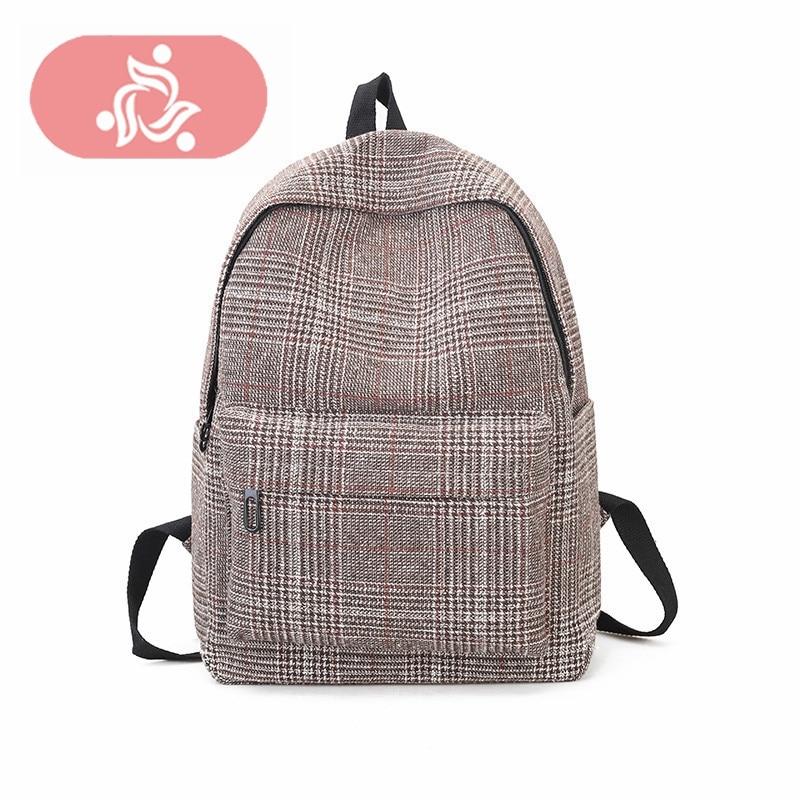 Korean School Backpack Canvas Youth Teenages Female Shoulder Bag Bagpack Mochila