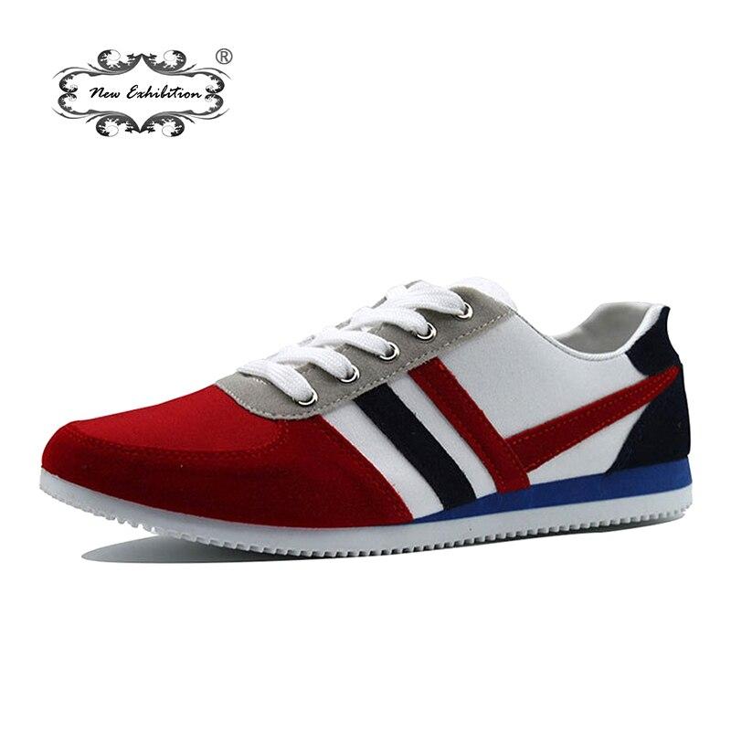 36c85b35c Nova exposição de lona sapatos Da Moda mens sapato de pano Primavera Outono  Masculino tênis zapatillas homens schoenen casuais sapato tamanho 39-44