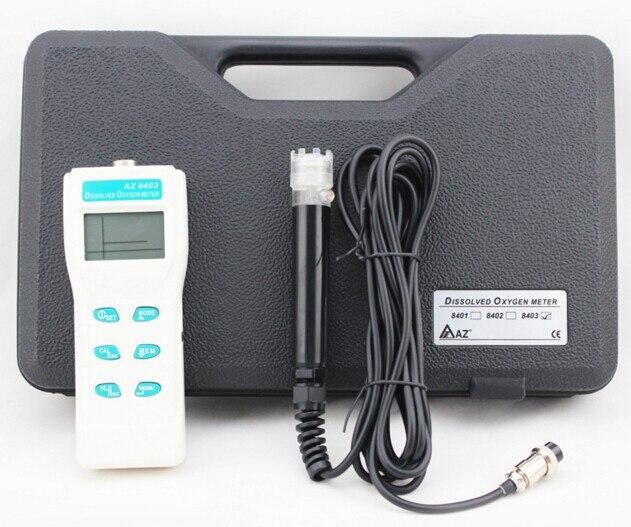 Fast Shipping of EMS DHL AZ8403 Handheld DO Meter Dissolved Oxygen Tester AZ-8403
